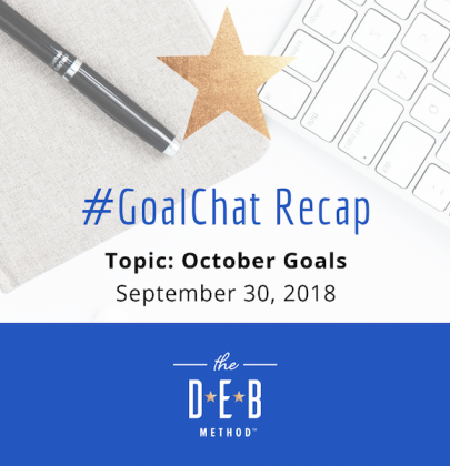 #GoalChat Recap – October 2018 Goals