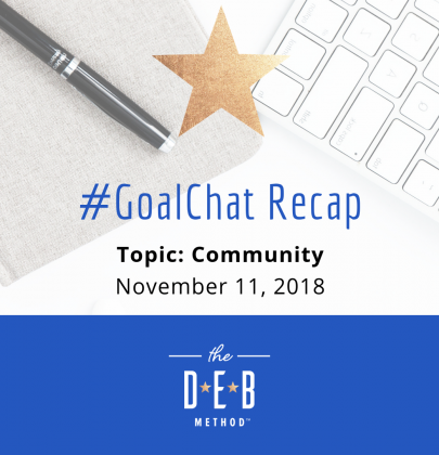 #GoalChat Recap – Community