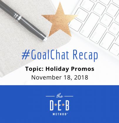 #GoalChat Recap – Holiday Promos