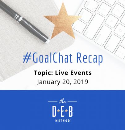 #GoalChat Recap – Live Events