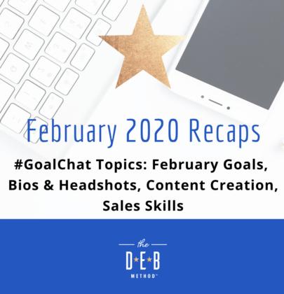 February 2020 #GoalChat Recaps