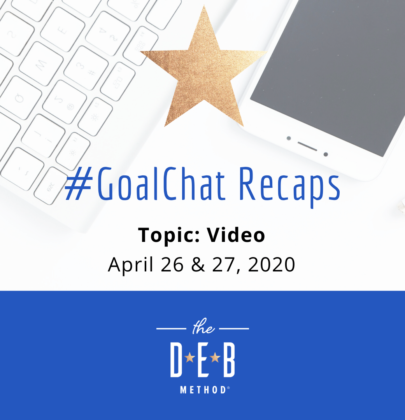 April 26 & 27 #GoalChats on Video – With Guest Steve Dotto