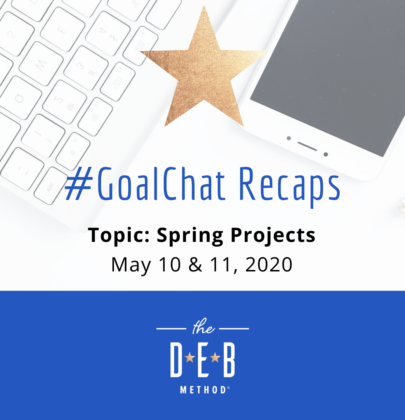 May 10 & 11 #GoalChats on Spring Goals – With Garden Master David King