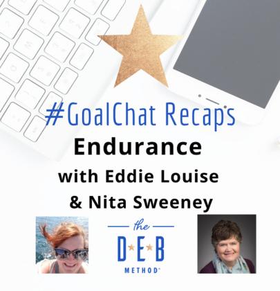 #GoalChats on Endurance with Eddie Louise and Nita Sweeney