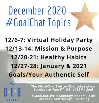 December 2020 #GoalChat Topics