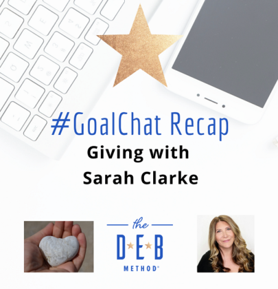 #GoalChats on Giving with Sarah Clarke