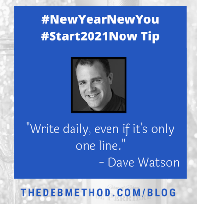 Dave Watson's Tip to #Start2021Now