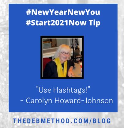 Carolyn Howard-Johnson's Tip to #Start2021Now