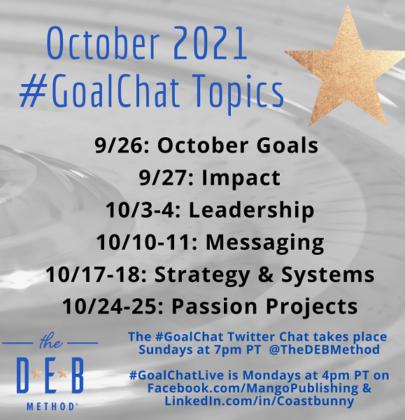 October 2021 #GoalChat Topics – Impact